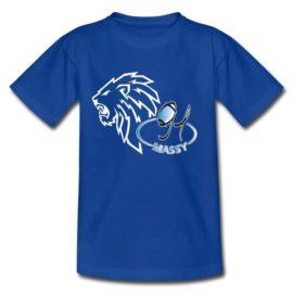 T SHIRT LOGO LION BLEU HOMME
