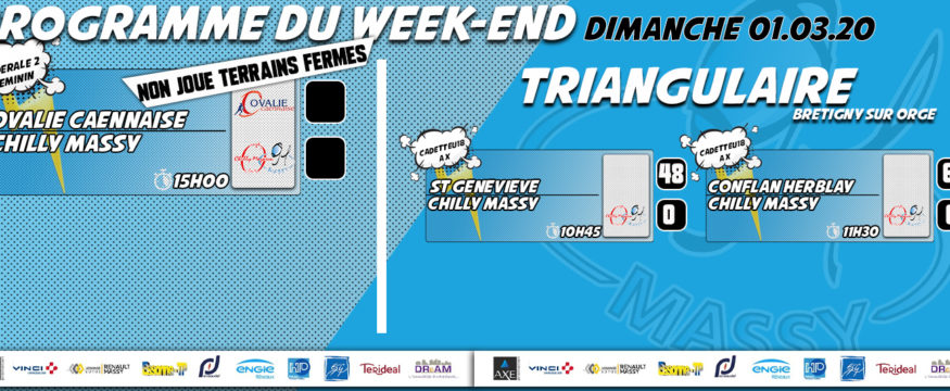 nouveau programme du weekend 2020 08.02.20